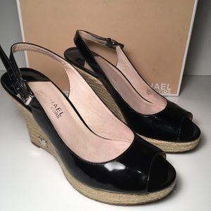 Michael Kors Kami Ankle Strap Wedge Sandals Shoe